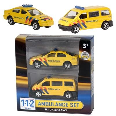 Die-cast 112 Ambulance set 2 delig