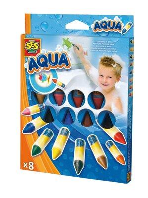 Ses Aqua - Kleuren In Bad (8 Krijtjes)