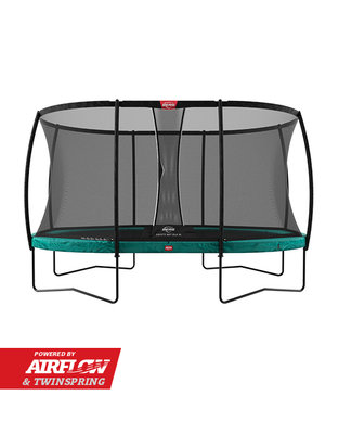 Trampoline BERG Grand Champion Regular 520 Green + Safety Net DLX XL