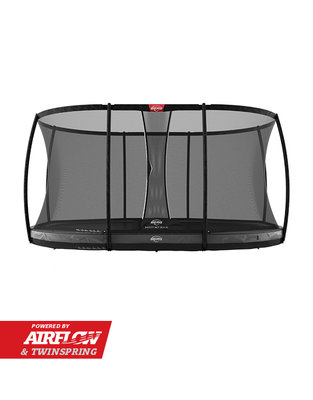 Trampoline BERG Grand Elite InGround 520 Grey + Safety Net DLX XL