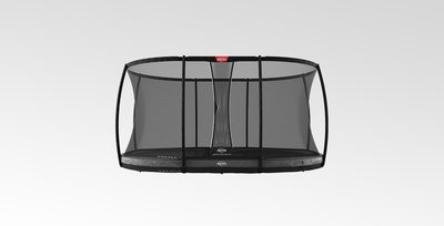 Trampoline BERG Grand Elite InGround 520 Grey + Safety Net Deluxe