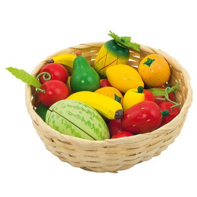 Goki Fruit in een Mand, 23dlg.