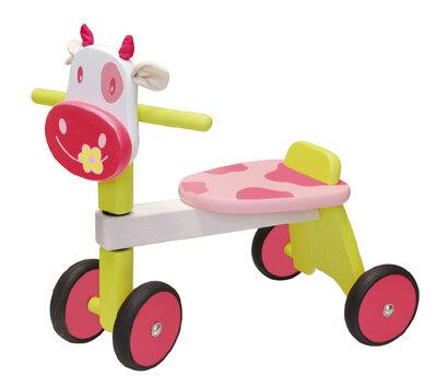 I'M Toy Loopfiets Koe Rose/Groen