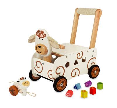 I'm Toy Loop/duwwagen en sorteer schaap met mini schaap trekfiguur