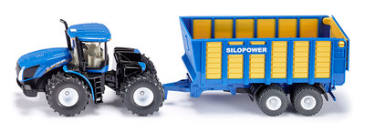 Siku new holland tractor met hooiwagen 1:50