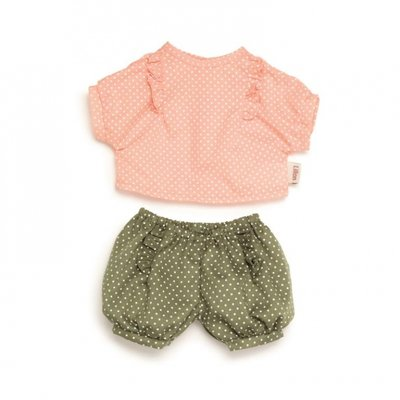 Skrallan Poppenkleding pyjama polkadot (36cm)