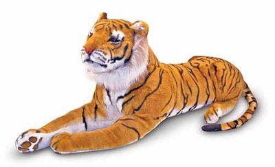 Melissa & Doug  Pluchen tijger 170x51x35,5 cm