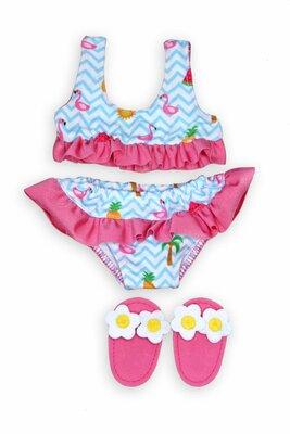 Flamingo Bikini Heless Flamingo Bikini Met Slippers  35-45Cm