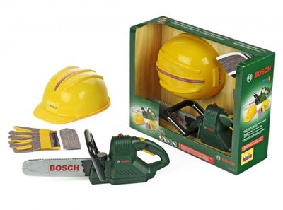 Bosch Speelgoed Bosch Kettingzaag, Helm En Handschoenen