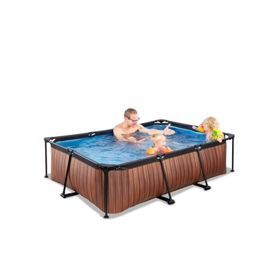 Zwembad Exit Frame Pool 220X150X60Cm (12V Cartridge Filter) Timber Style