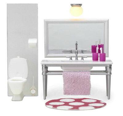 Lundby poppenhuis Smaland badkamermeubilair + toilet