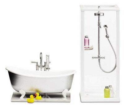 Lundby poppenhuis Smaland bad en douche