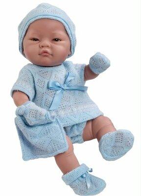 Paola Reina Babypop blank blauw pakje sokjes 43cm