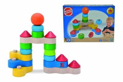 Heros Houten speelgoed Kettingbouwblokken fantasie (18-delig)
