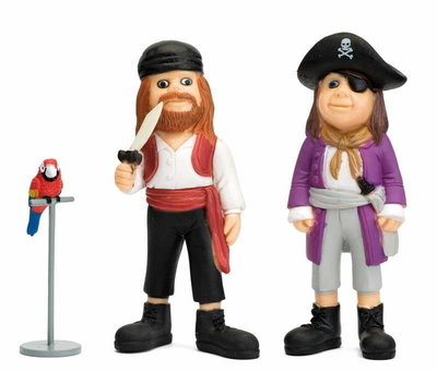 Micki figuren piraat,Rosalinda & papegaai
