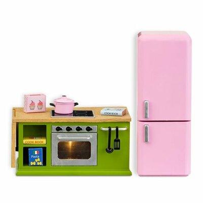 Lundby poppenhuis Smaland aanrecht + koelkast classic