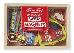 Melissa & Doug  Houten magneetset boerderij