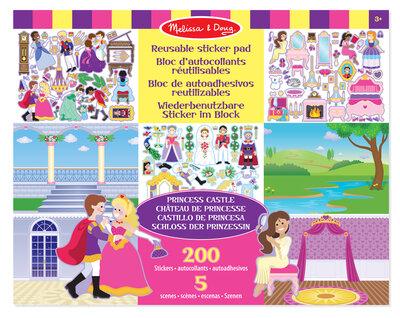 Melissa & Doug  Herbruikbaar stickervel prinses