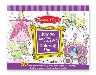 Melissa & Doug  Jumbo kleurblok prinses en fee