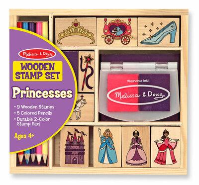 Melissa & Doug  Houten stempelset prinsessen
