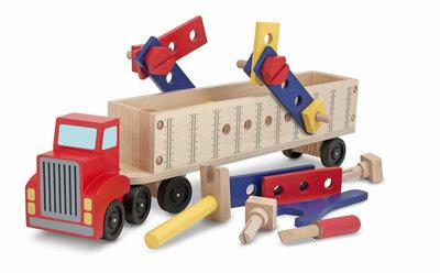 Melissa & Doug  Big truck bouwset hout (24-delig)