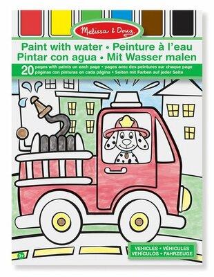 Melissa & Doug  Kleurblok met watervef (voertuigen)