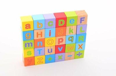 Jouéco Houten alfabetblokken (30-delig)