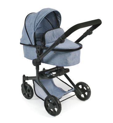 Bayer Chic Poppenwagen Mika combi (jeans blauw)