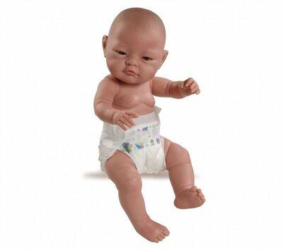 Paola Reina Bebitos Aziatische babypop jongen met luier 45cm in zak
