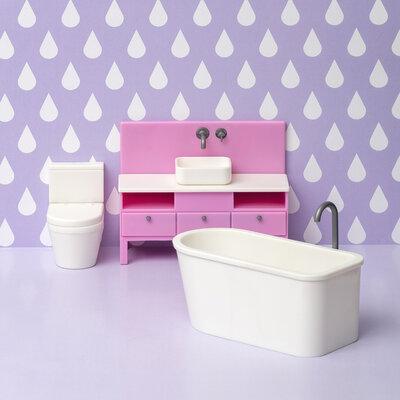 Lundby poppenhuis Basic - Badkamerset