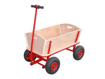 Houten bolderwagen