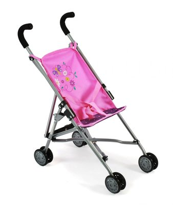 Bayer Chic Poppenbuggy Roma (stippen paars/roze)