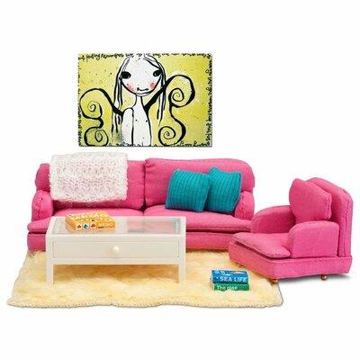 Lundby poppenhuis Smaland zitkamer (roze)