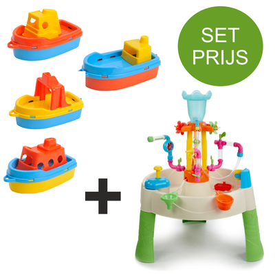 Little Tikes Watertafel Fountain Factory met 4 kunststof bootjes