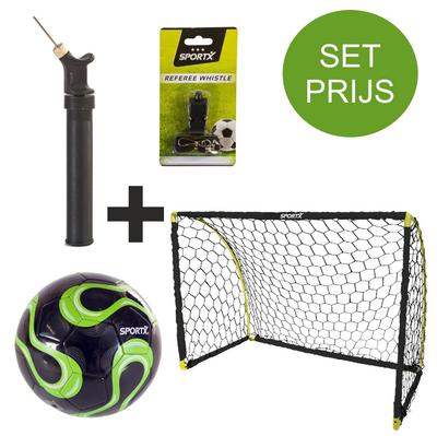Voetbal goal 180X91X120 cm inclusief startersset