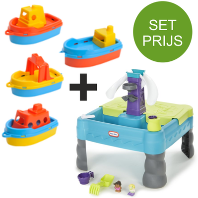 Little Tikes Sandy Lagoon park zand en watertafel + 4 water bootjes