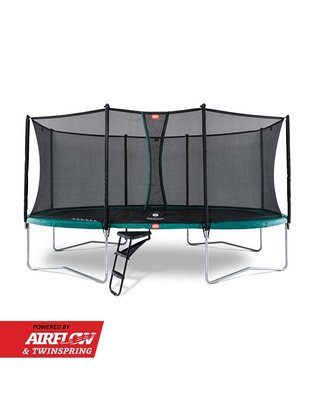Trampoline BERG Grand Favorit Regular 520 x 345 Green + Safety Net Comfort