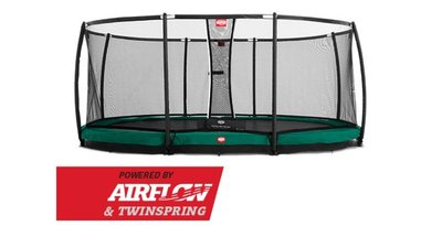 Trampoline BERG Grand Champion InGround 520 x 345 Green + Safety Net Deluxe