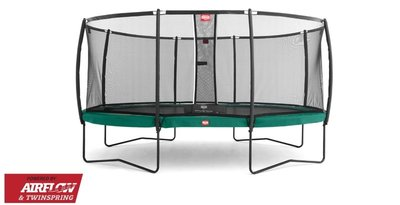 Trampoline BERG Grand Champion Regular 520 x 345 Green + Safety Net Deluxe