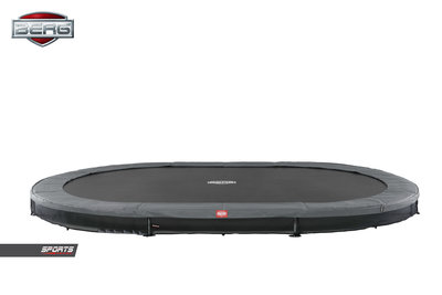 Trampoline BERG GRAND FAVORIT INGROUND 520x345 GREY