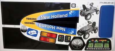 Rolly toys Stickervel New Holland TD5050