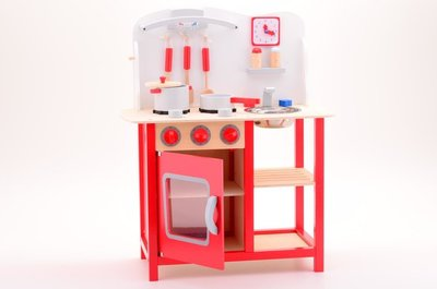 Houten Accessoires Keuken : Jouéco houten keuken met accessoires speelgoed de betuwe