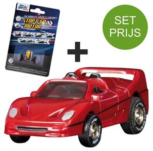 Darda Racebaan auto Ferrari F50 Auto + extra stop & go motor